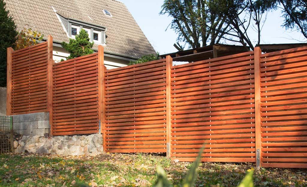 Sichtschutzzaun selbst bauen  selbst.de