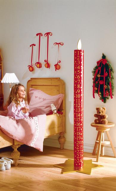 Adventskalender als Kerze