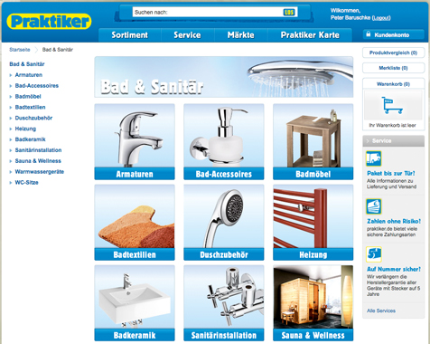 Baumarkt Online-Shop