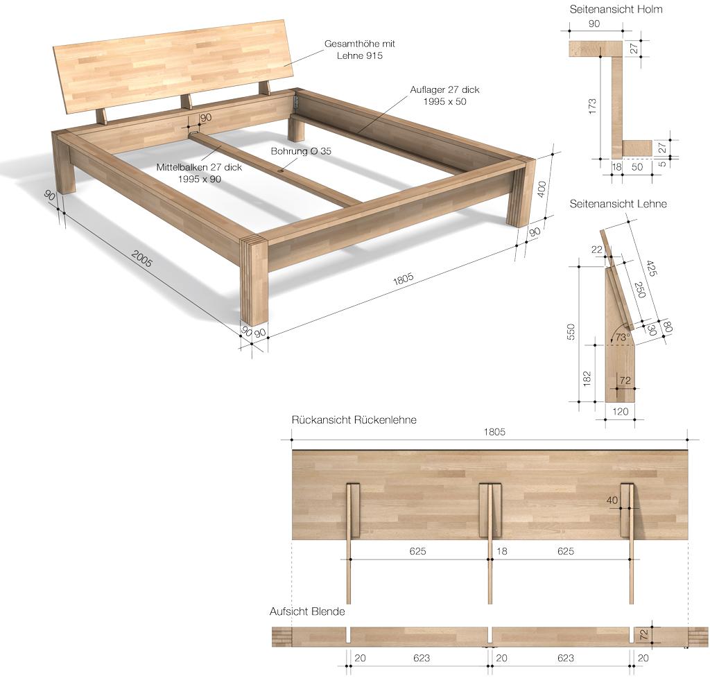 Häufig Bett 180x200 | selbst.de GU19