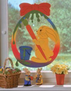 Fensterbild Ostern