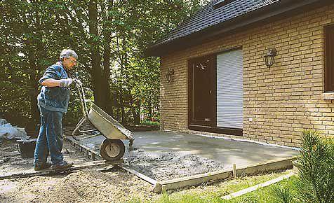 Bodenplatte gießen für terrasse