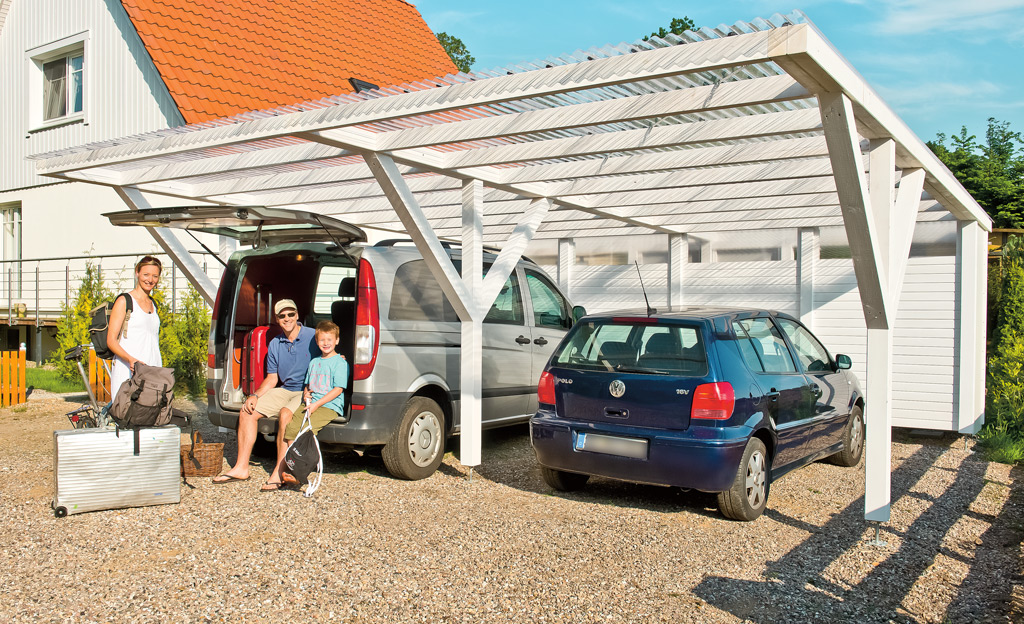 Gartenh user carport for Carport selber bauen bauplan