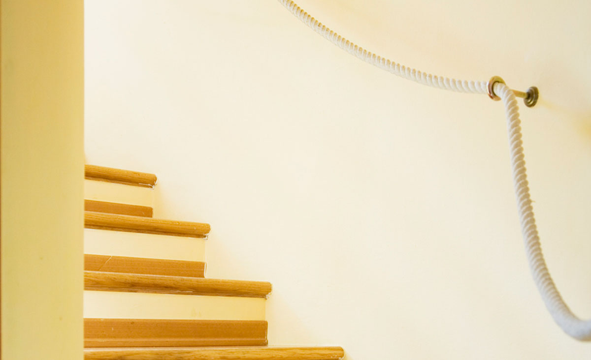 handlauf treppe seil