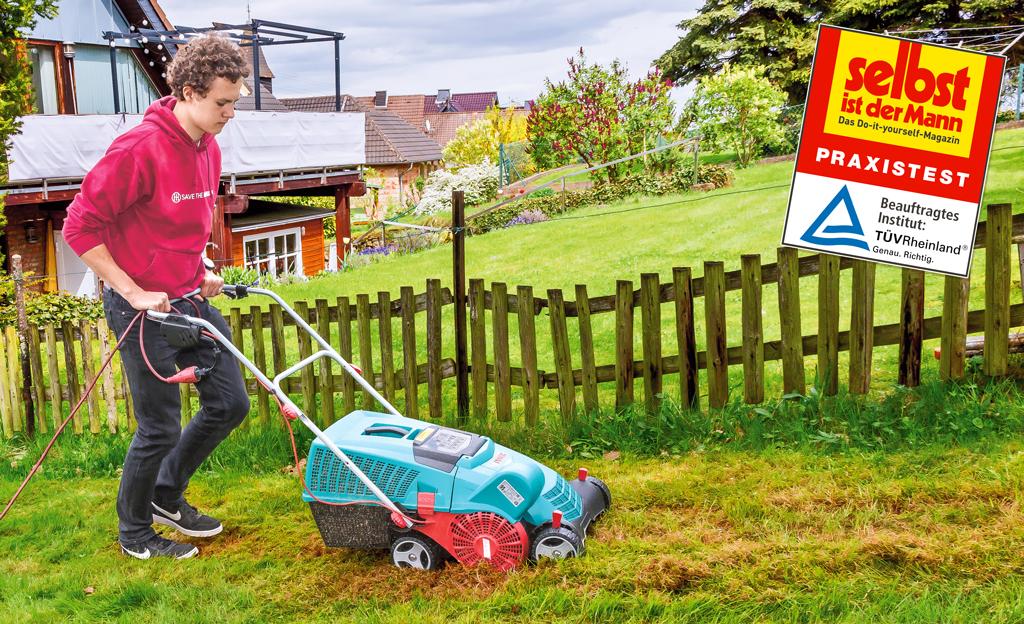 WOLF-Garten Elektro Vertikutierer 1200W Moosentferner Rasenlüfter Rasen Lüfter