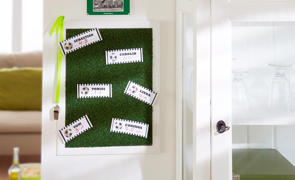 Anzeigetafel selber bauen - Tafelwand kinderzimmer ...