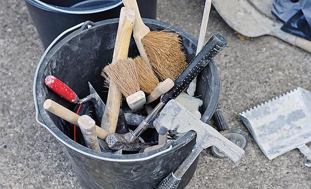 Gartenmauer: Werkzeug