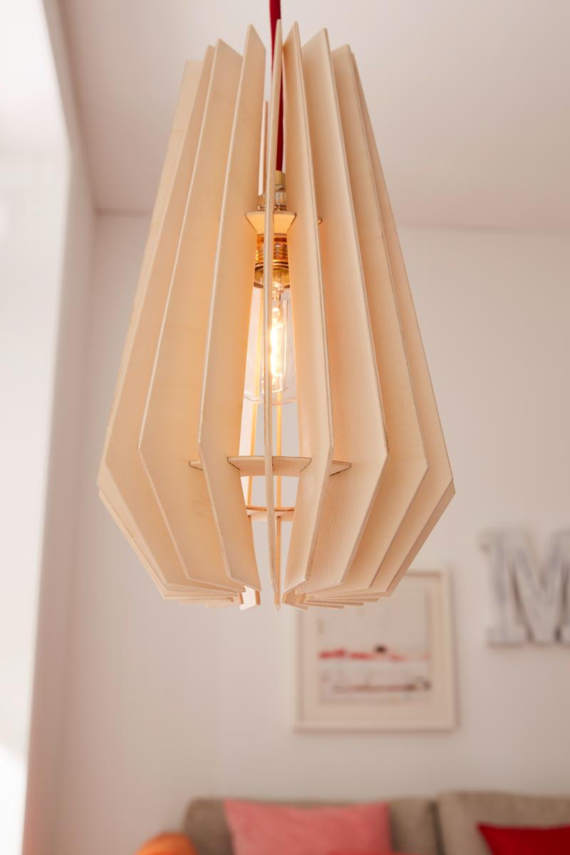 Holz-Lampenschirm