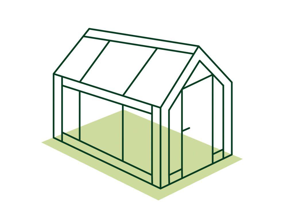 Garten-Gewächshaus