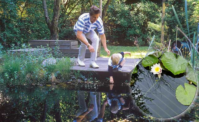 Kindersicherer Teich