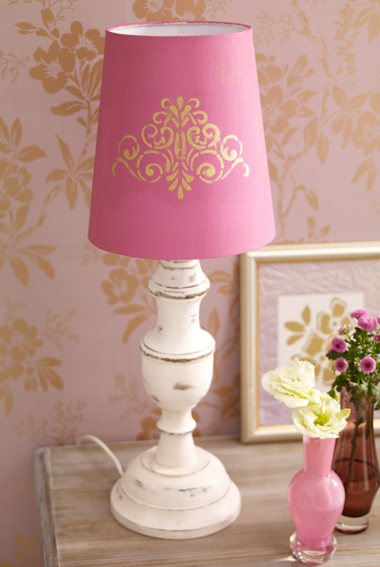 Lampenschirm dekorieren