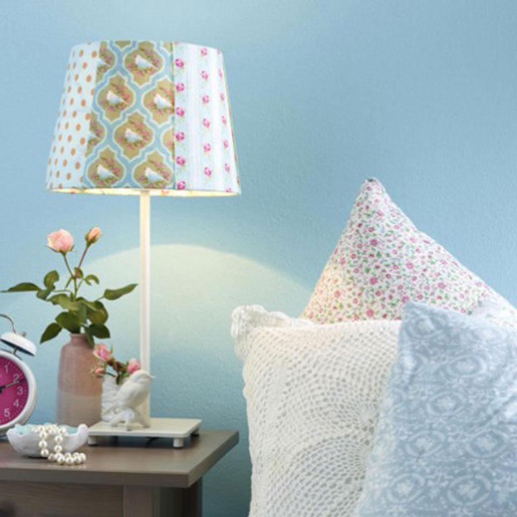 lampenschirm neu gestalten. Black Bedroom Furniture Sets. Home Design Ideas
