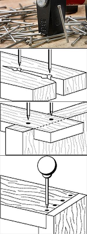Holzverbindung nageln