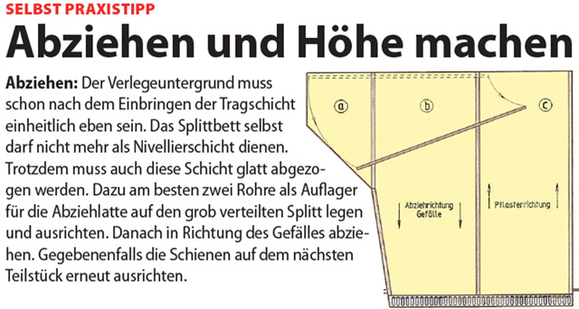 Sehr Pflastern: Unterbau | selbst.de TI94