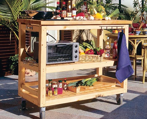 Mobile gartenk che for Outdoor kitchen selber bauen