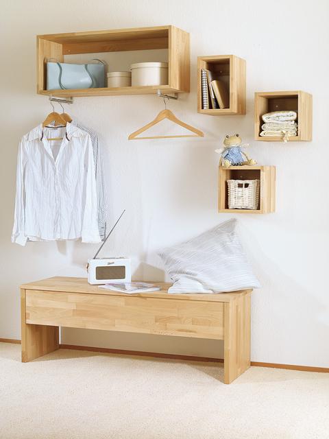 garderobenbank selber bauen einrichten mobiliar. Black Bedroom Furniture Sets. Home Design Ideas