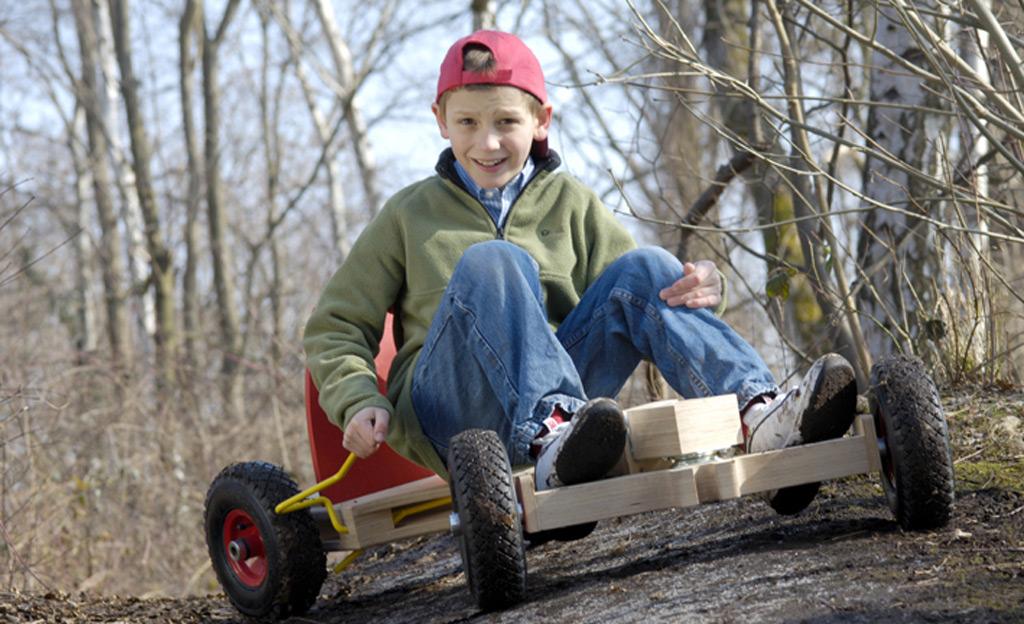 Spielzeug bollerwagen holzarbeiten m bel for Schaukelstuhl umbau