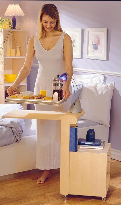nachttisch mit bett tablett tische sitzm bel. Black Bedroom Furniture Sets. Home Design Ideas