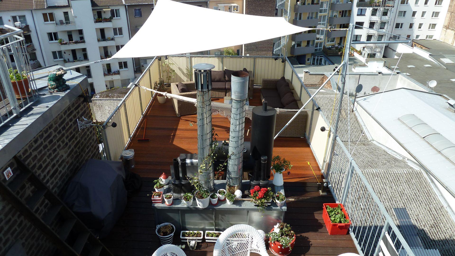 Fertig ist unsere neue Dachterrasse