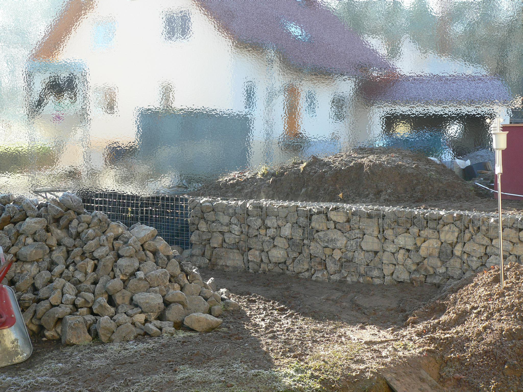 Gabionenmauer
