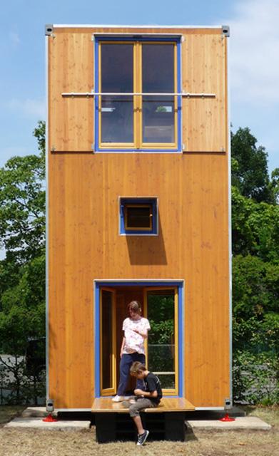 Homebox1 wohnturm bauen for Wohnen auf kleinem raum