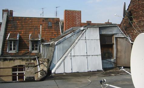 Modernes Loft: Die Sonnenterrasse (vorher)