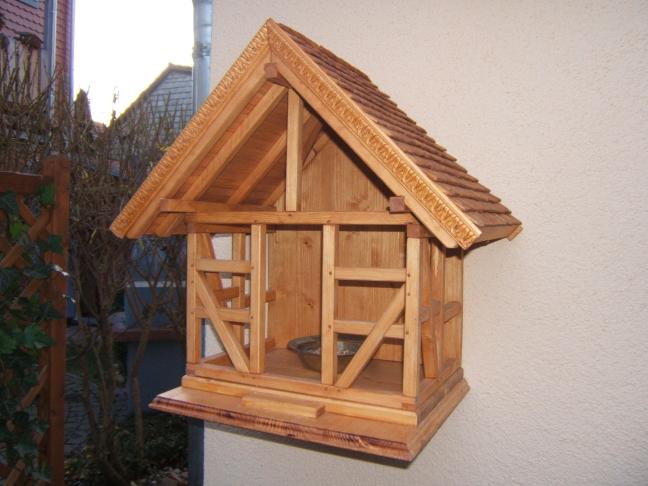 Fachwerk Vogelhaus / Futterhaus