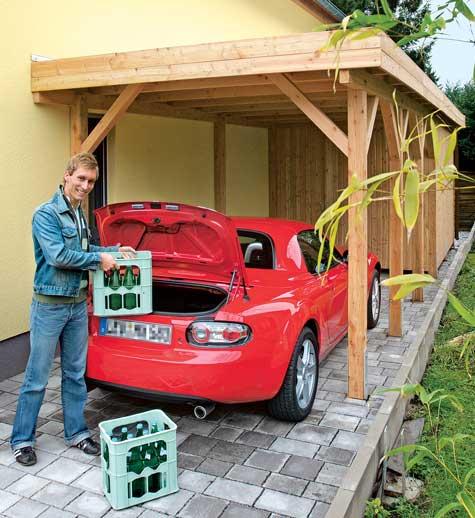 carport mit ger teraum gartenhaus carport bild 8. Black Bedroom Furniture Sets. Home Design Ideas