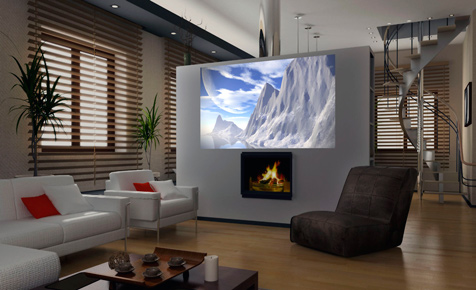 farbe f r die video leinwand b rom bel mediam bel. Black Bedroom Furniture Sets. Home Design Ideas