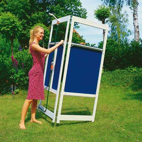 Transportable gartendusche bauen gartenduschen - Dusche garten solar sichtschutz ...