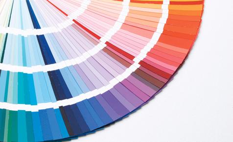 Farblehre und farbwirkung farben tapeten - Farbmuster wandfarbe ...