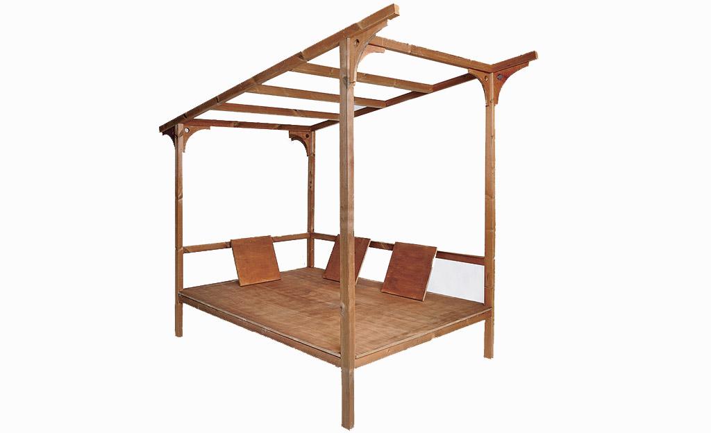 himmelbett f r den garten m bel ausstattung. Black Bedroom Furniture Sets. Home Design Ideas