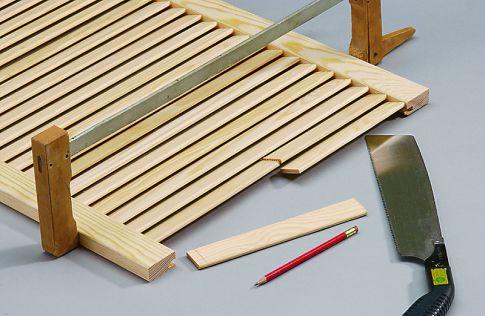 selbst gemacht: Holzlamellentür kürzen  Holzarbeiten & Möbel ...