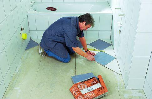 Fußboden Fliesen Diagonal Verlegen ~ Fliesen diagonal verlegen selbst