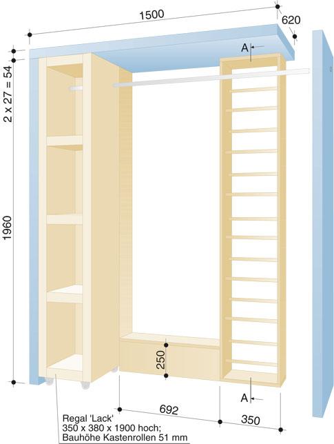 Flur-Garderobe - Maße & Material | Einrichten & Mobiliar | selbst.de