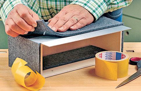 schl sselkasten mit filz verkleiden holzarbeiten m bel. Black Bedroom Furniture Sets. Home Design Ideas