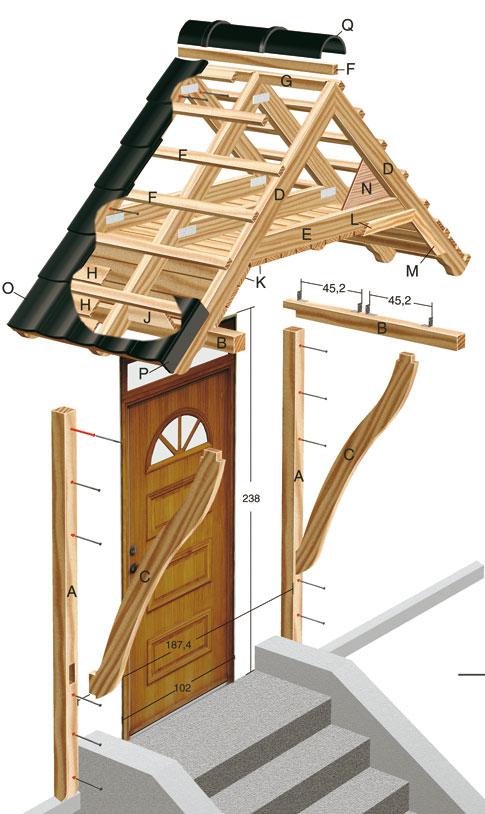 Как сделать деревянный навес над крыльцом своими руками фото 42