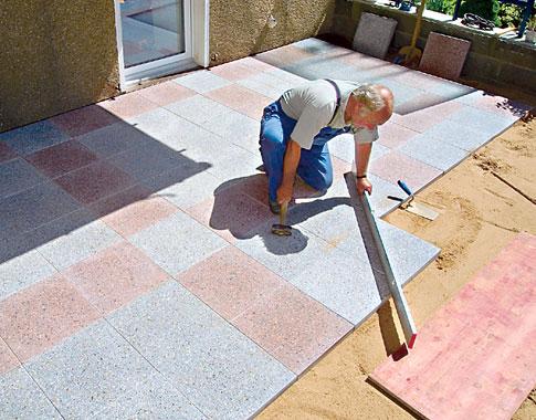 Terrasse Mit Betonplatten Selbst De