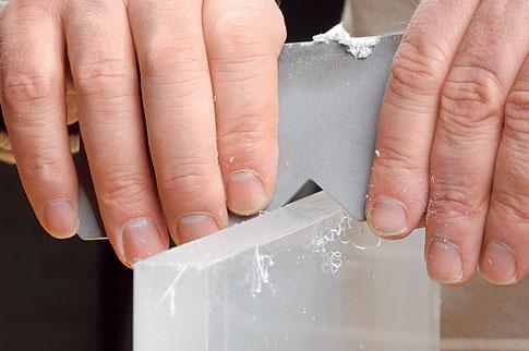 Plexiglaskanten polieren: Schritt 2 von 5