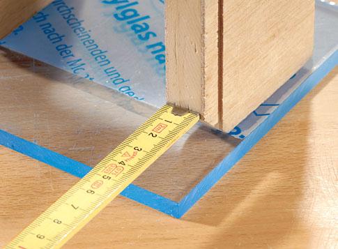 Plexiglasplatten verkleben: Schritt 4 von 8