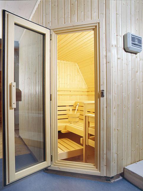 Das Ergebnis – die fertig montierte Sauna-Kabine