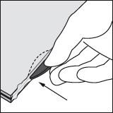Schritt 4: Flachdübel in Nut drücken