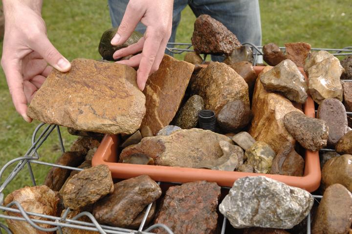 wasserspiel: gabionen-brunnen | wasser im garten & teich | selbst.de, Garten und Bauen