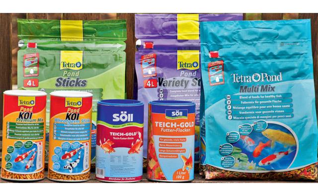 Fischfutter-Produkte