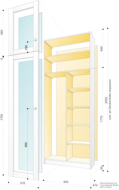 Zeichnung Balkonschrank