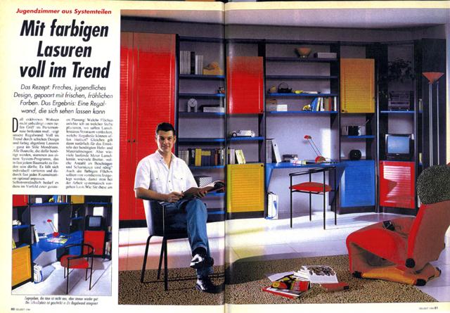 Farbige Möbel liegen im Trend