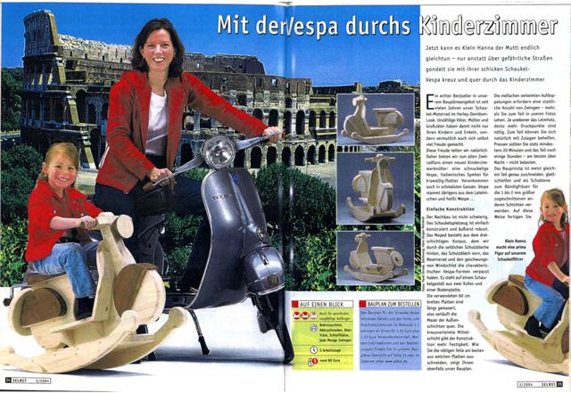 Bauplan: Schaukel-Vespa bauen