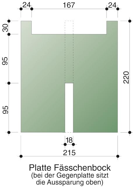 Zeichnung für Fässchen-Bock