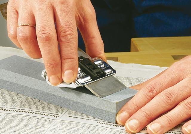 Holzhobelmesser richtig schärfen/abziehen -  Schritt 3 von 4