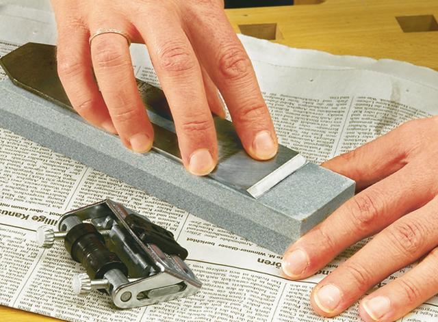Holzhobelmesser richtig schärfen/abziehen -  Schritt 4 von 4
